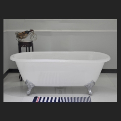 CAST IRON BATH 1524mm -WHITE - Double Ended