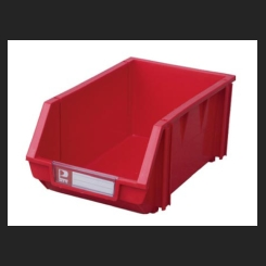 Plastic Bin - Red - 140mm x 105mm x75mm