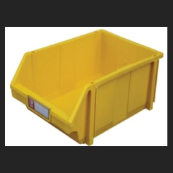 Plastic Bin - Yellow - 190mm x 105mm x75mm