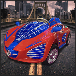 Spiderman - Kids Ride-on Car